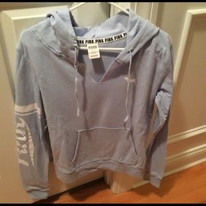 PINK Victoria's Secret Tops - Pink Hooded Sweatshirt